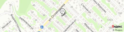 Настя на карте Новороссийска