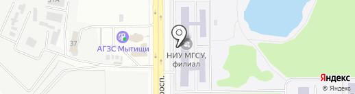 Стоплекс на карте Мытищ