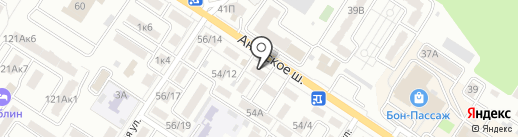 Растемка на карте Новороссийска