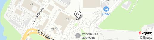 К и К на карте Видного