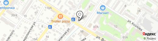 РиО на карте Новороссийска