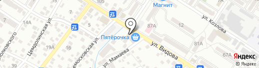 Партизан на карте Новороссийска