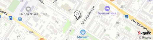 Рыбный двор на карте Новороссийска