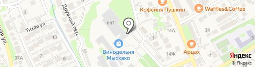 Мысхако на карте Новороссийска
