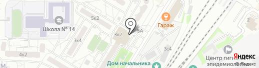 Секонд-хенд на Шараповской на карте Мытищ