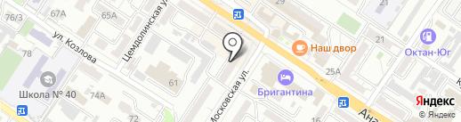 Миледи на карте Новороссийска