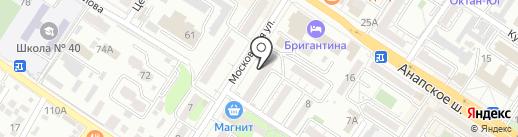 Адвокатские кабинеты Величко П.И., Свечниковой Л.В. и Толстопятов В.Н. на карте Новороссийска