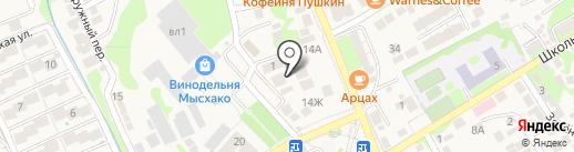 ЮГ ПЛАКАТ на карте Новороссийска