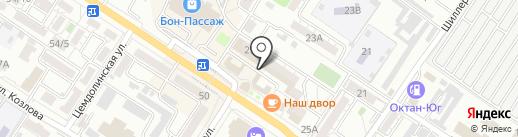 Платан на карте Новороссийска