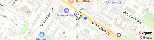 Булавка на карте Новороссийска