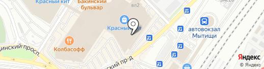 Линии Любви на карте Мытищ