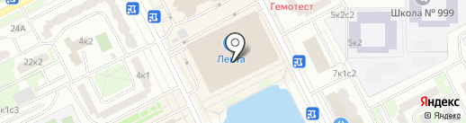 Комус на карте Москвы
