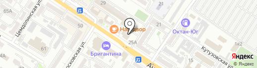Жираф на карте Новороссийска
