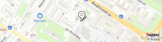 Мясокомбинат Новороссийский, ЗАО на карте Новороссийска