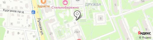 Богучаровская вода на карте Домодедово