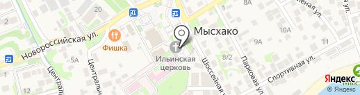 Свято-Ильинский храм на карте Новороссийска