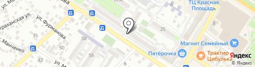 Нотариус Иванова А.Ю. на карте Новороссийска