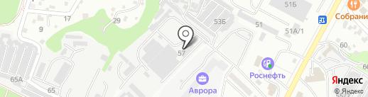 Асстек, ЗАО на карте Новороссийска