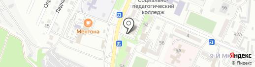 Рояль на карте Новороссийска