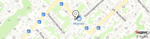 Браво на карте Новороссийска