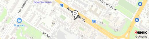 Навигатор на карте Новороссийска