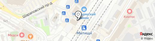 Киоск по продаже хлебобулочных изделий на карте Мытищ