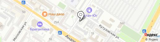 Слоник на карте Новороссийска