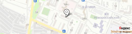Администрация Южного внутригородского района на карте Новороссийска