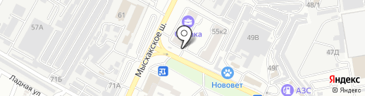 Банкомат, КБ Росэнергобанк на карте Новороссийска