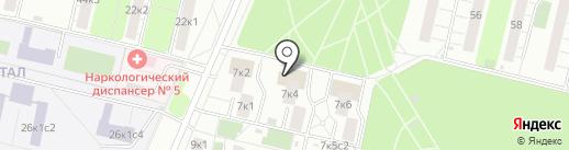 Московский клуб Тхэквондо на карте Москвы