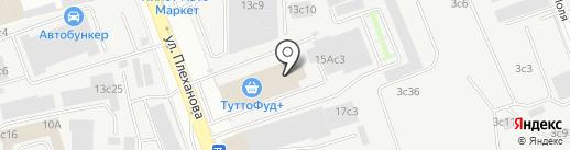 Логистик на карте Москвы