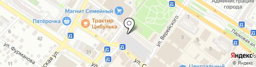 Оранжевый верблюд на карте Новороссийска