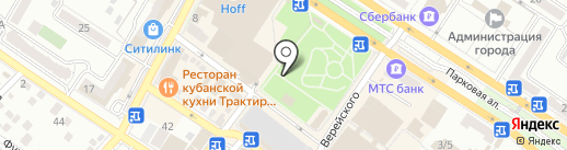 Киоск хлебобулочных изделий на карте Новороссийска
