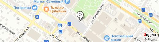 Магазин фастфудной продукции на карте Новороссийска