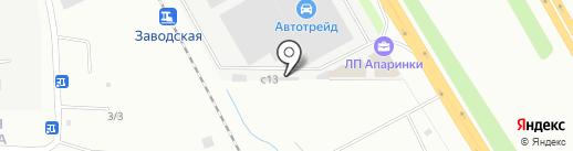 Шиномонтажная мастерская грузовых автомобилей на карте Апаринок