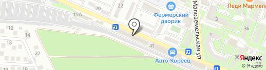 Фенестра на карте Новороссийска