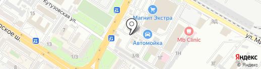 Баклажка на карте Новороссийска