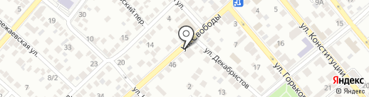 Разгуляй на карте Новороссийска