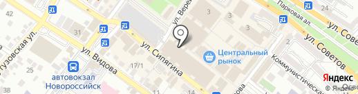 Легенда на карте Новороссийска