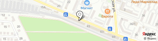 Юркас на карте Новороссийска