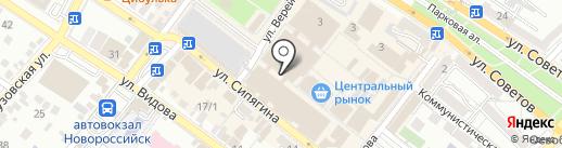 Карапуз на карте Новороссийска