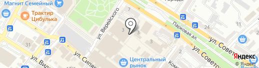 Мясной домик на карте Новороссийска