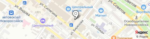 Фич Хан на карте Новороссийска