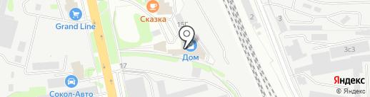 Райтон на карте Домодедово