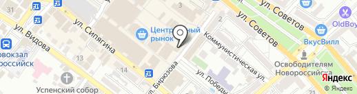Ривьера на карте Новороссийска