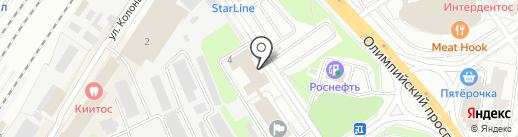 Герфеу на карте Мытищ