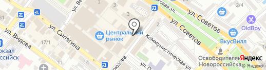 Квартирное бюро на карте Новороссийска