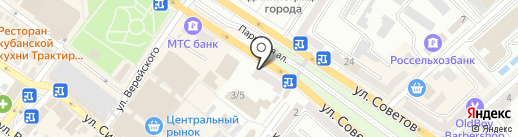 Банкомат, Банк Хоум Кредит на карте Новороссийска