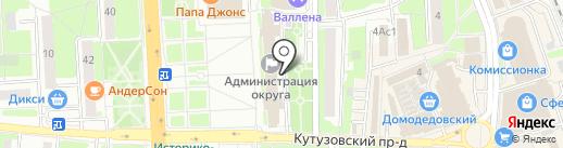 Комитет по управлению имуществом на карте Домодедово