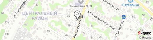 Европа плюс Новороссийск, FM 101.9 на карте Новороссийска